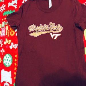 Tops - VIRGINIA TECH VT T Shirt Top sz L Juniors